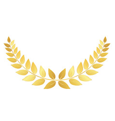 golden laurel wreath isolated on white background vector image