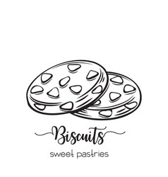 Hand drawn biscuit vector