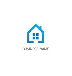 home window realty company logo vector image