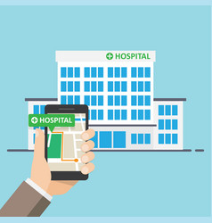 Hospital pharmacy pointer on map location vector