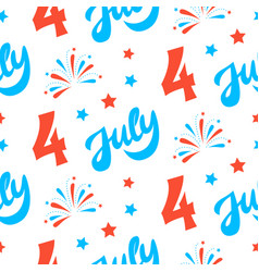 independence day of america festive background vector image