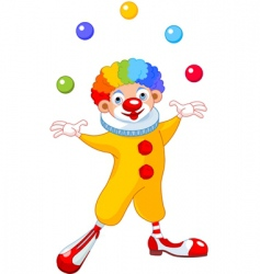 juggling clown vector image