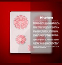 Kitchen concept induction cooking panel vector