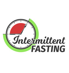 Logo of intermittent fasting clock face vector