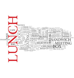 lunch word cloud concept vector image