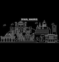 Madrid city silhouette skyline spain - madrid vector