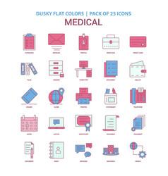 Medical icon dusky flat color - vintage 25 icon vector