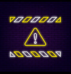 neon warning sign vector image