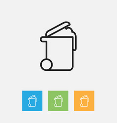 Of cleanup symbol on rubbish vector
