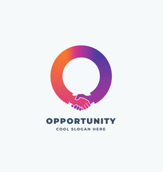 opportunity abstract sign symbol or logo vector image