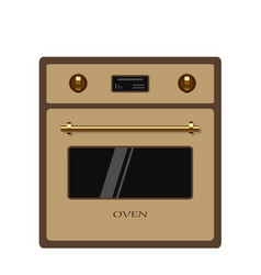 Oven isolated on white background vector