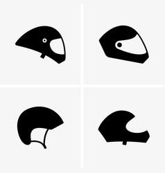Paragliding helmets vector