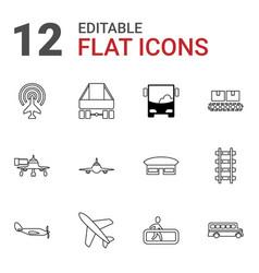 Passenger icons vector