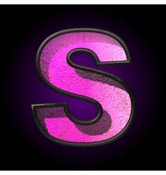 pink plastic figure s vector image