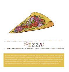 pizza slice fast food italian vector image