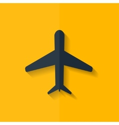 Plane airplane icon Flat design vector image