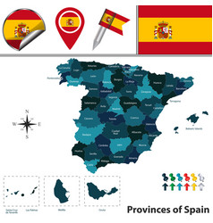Provinces of spain vector