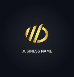 round line abstract business logo vector image