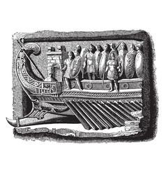 Sculpture is an ancient bas relief sculpture a vector