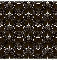 Seamless pattern graphic ornament sea stylish back vector image