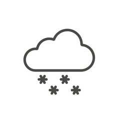 snow cloud icon line winter symbol vector image