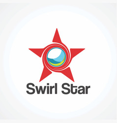 Swirl star logo iconelement and element vector