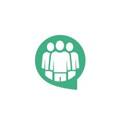 team talk logo vector image