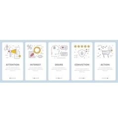 Thin line flat design sales concept vector