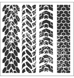Tire tracks - set vector image