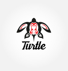 tribal turtle tattoo logo sign symbol icon vector image