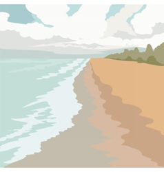 Tropical Exotic Paradise Beach vector