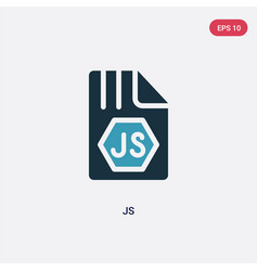 Two color js icon from programming concept vector