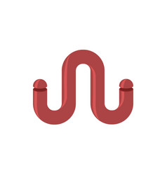 W letter tube abstract logo eemblem of letter vector