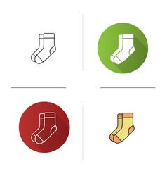 Warm socks icon vector