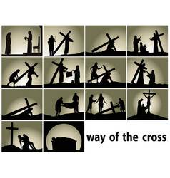 Way cross vector