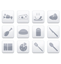 white food app icon set Eps10 vector image