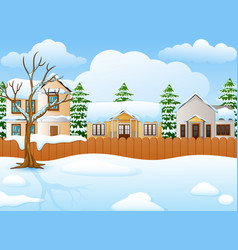 winter landscape with snowy vector image