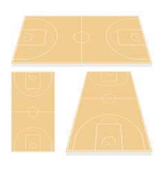 basketball field isolated on white background vector image