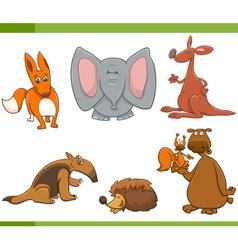 cartoon wild animals set vector image vector image