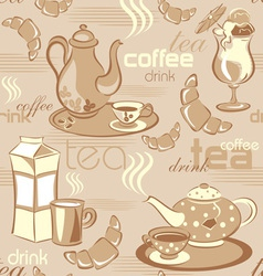 deverages seamless background vector image vector image