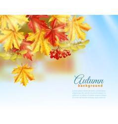 Flat Autumn Background vector image
