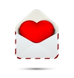 Love heart in the envelope vector image vector image