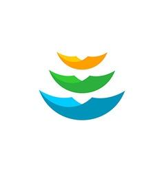Paper sheets logo vector image vector image