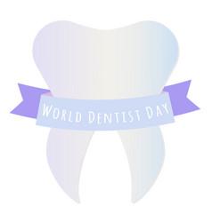 world dentist day vector image