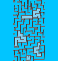 gray white and blue maze labyrinth endless pattern vector image