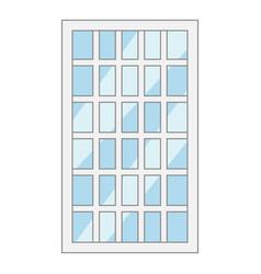 lattice window frame icon cartoon style vector image