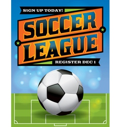 Soccer League Flyer vector image vector image