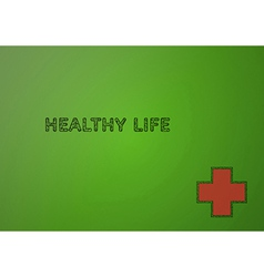 stamp with healthy life vector image vector image