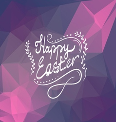 Card with Happy Easter lettering-3 vector image vector image