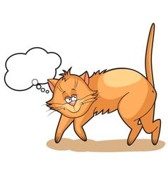 cute cartoon Cat dreams vector image
